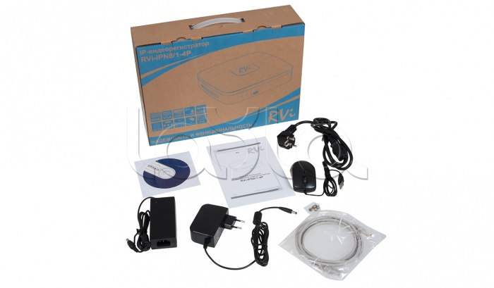 RVi-IPN8/1-4P NVR, IP-видеорегистратор 8 канальный RVi-IPN8/1-4P