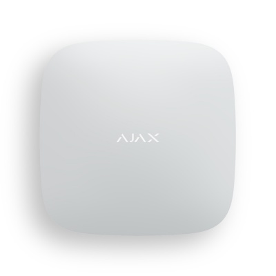 Смарт-централь с фотоверификацией тревог и четырьмя каналами связи: Ethernet, Wi-Fi, 2хSIM-карты Ajax Hub 2 Plus (White)