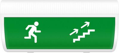 """Табло световое плоское Арсенал Безопасности Молния-12 """"Человек вверх по лестнице направо"""""""