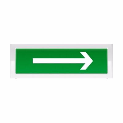 """Табло световое плоское двухсторонее Арсенал Безопасности Молния-2-12 """"Выход со стрелкой вправо"""""""