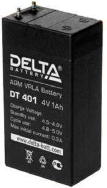 Аккумулятор свинцово-кислотный Delta DT 401