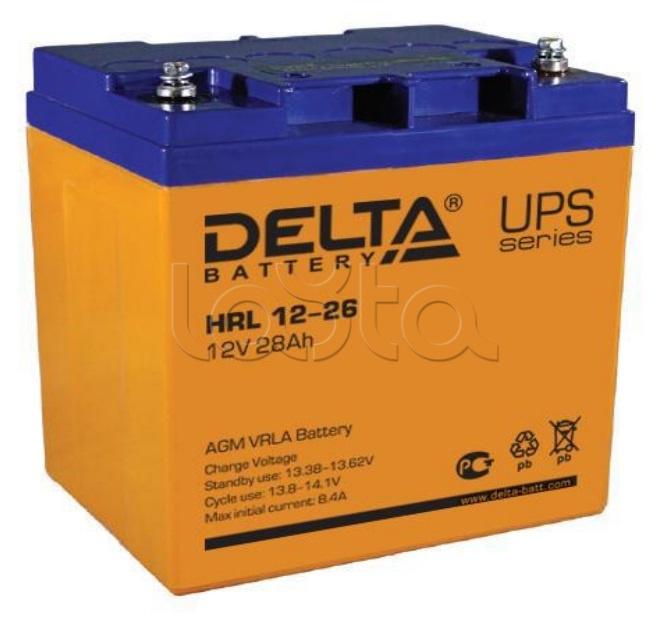 Delta HRL АКБ 12 - 26, Аккумулятор свинцово-кислотный Delta HRL АКБ 12 - 26