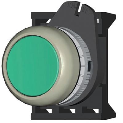 Кнопка плоская с фиксацией, красная DKC ABDTM1