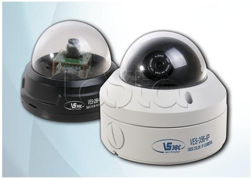 ЭВС VES-556-IP, IP камера видеонаблюдения купольная ЭВС VES-556-IP
