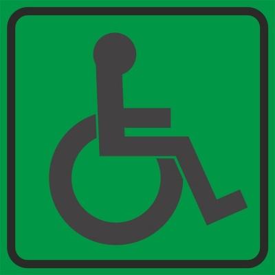 """Табличка с пиктограммой """"Доступность для инвалидов всех категорий"""" (150х150) Hostcall"""