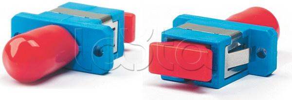 Hyperline FA-S11Z-SC/ST-N/BK-SL, Адаптер проходной FA-S11Z-SC/ST-N/BK-SL Hyperline