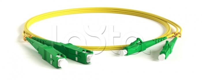 Hyperline FC-D2-9-LC/AR-SC/AR-H-1M-LSZH-YL, Патч-корд волоконно-оптический одномодовый SM 9/125 (OS2), LC/APC-SC/APC, duplex, LSZH, 1 м Hyperline FC-D2-9-LC/AR-SC/AR-H-1M-LSZH-YL
