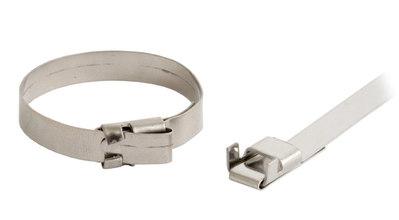 Хомут-стяжка металлический 200x4.6x0.3 мм Hyperline FVC-200ST (100 шт/уп)