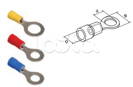 IEK UNL20-4-D15-4-3, Наконечник изолированный НКИ 1,25-3 кольцо 0,5-1,5мм IEK UNL20-4-D15-4-3