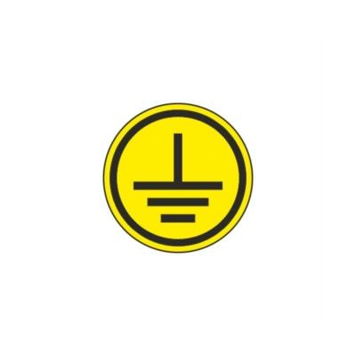 """Самоклеящаяся этикетка: 30x30 мм, символ """"Заземление"""" IEK YPC20-ZAZEM-1-096"""