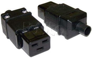 Lanmaster LAN-IEC-320-C19 IEC 60320 C19 16A 250V black, Вилка Lanmaster LAN-IEC-320-C19 IEC 60320 C19 16A 250V black