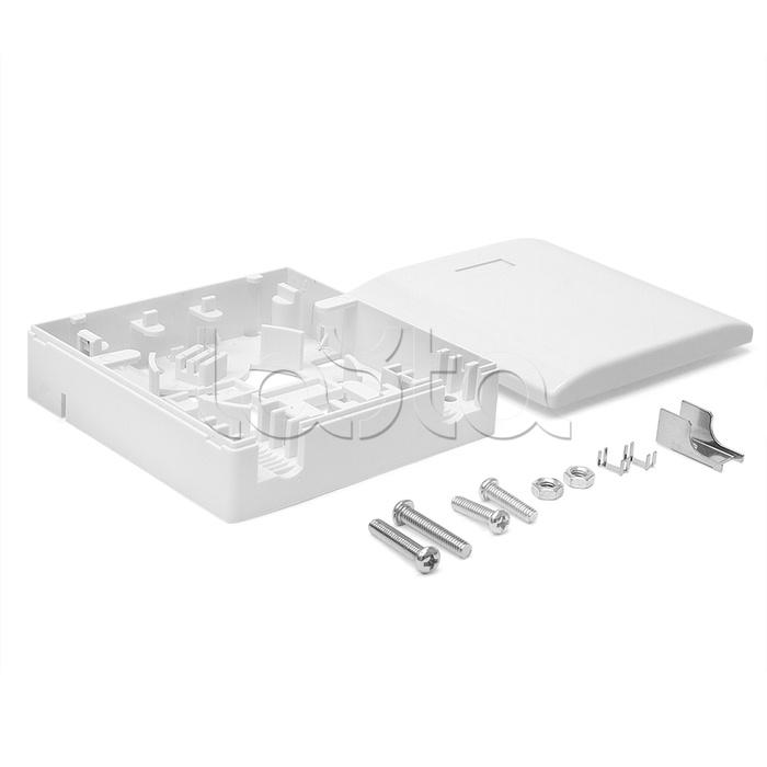 LANMASTER LAN-SBF1-WH, Коробка настенная на 1 адаптер SC LANMASTER LAN-SBF1-WH