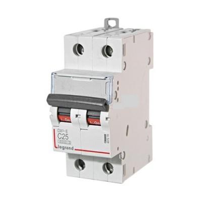 Выключатель автоматический DX3 2P 25A (тип C) Legrand (407802)