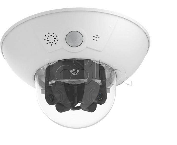 Mobotix MX-D15Di-Sec-DNight-D23N23-FIX-F1.8, IP-камера видеонаблюдения купольная Mobotix MX-D15Di-Sec-DNight-D23N23-FIX-F1.8
