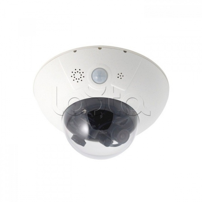 Mobotix MX-D15Di-Sec-DNight-D43N43-FIX-6MP-F1.8, IP-камера видеонаблюдения купольная Mobotix MX-D15Di-Sec-DNight-D43N43-FIX-6MP-F1.8