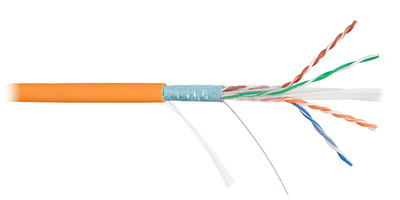 Кабель связи симметричный, для широкополосного доступа LAN F/UTP 4x2x24AWG кат.5е LSZH нr(B)-HFLTx (NKL 4200C-OR) NIKOMAX (305 м)