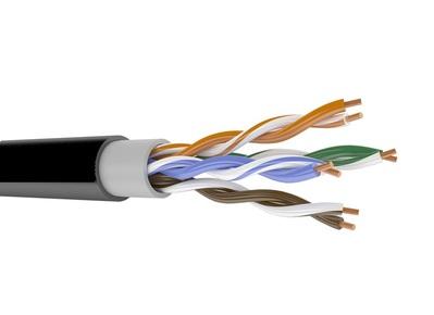 Кабель связи симметричный, для широкополосного доступа, уличной прокладки LAN UTP 4x2x23AWG кат.6 внешний  (NKL 4640B-BK) NIKOMAX (305 м)