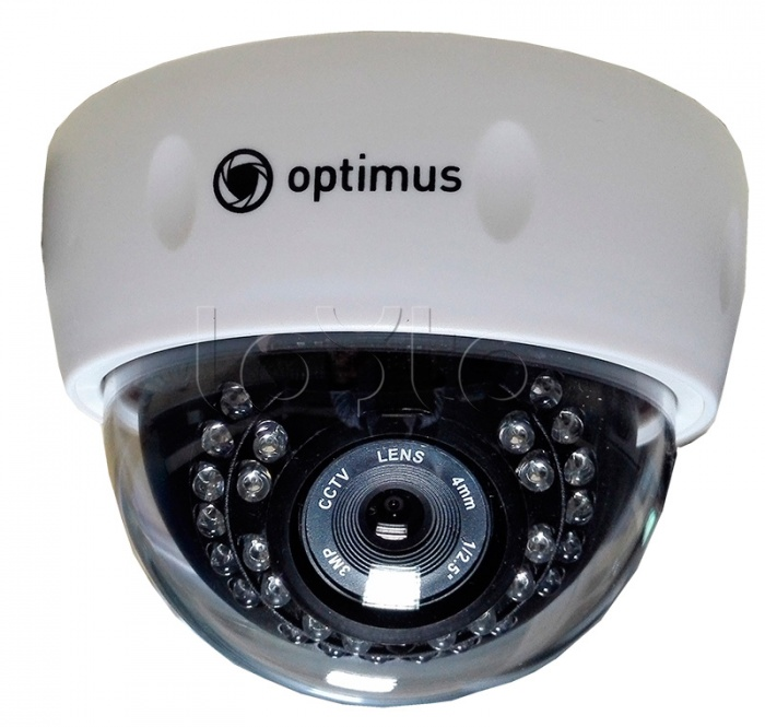 Optimus IP-E021.3(3.6)P, IP-камера видеонаблюдения купольная Optimus IP-E021.3(3.6)P