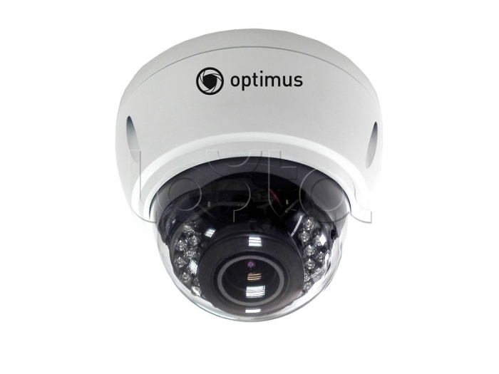 Optimus IP-E042.1(2.8-12)P, IP-камера видеонаблюдения уличная купольная Optimus IP-E042.1(2.8-12)P