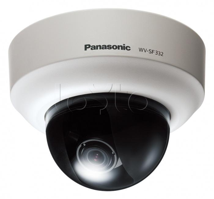 Panasonic WV-SF332E, IP-камера видеонаблюдения купольная фиксированная Panasonic WV-SF332E