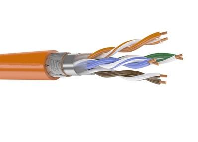 Кабель связи симметричный, экранированный, для структурированныx сетей, внутренней прокладки ParLan F/UTP кат.5e 4x2x0.52 нг(А)-HF Паритет (305 м)