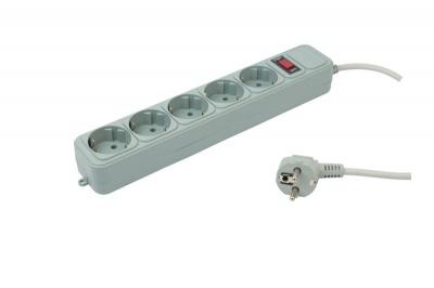 Фильтр cетевой 3м 5 разеток (серый) PC PET AP01006-3-G