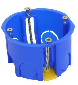 Коробка установочная, приборная, для полых стен, с пластмассовыми лапками 68x45 (200 шт/уп) ПожТехКабель 020-011