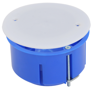 Коробка универсальная, установочная, с металлическими лапками и крышкой 73x45 (160шт/уп) ПожТехКабель 020-026