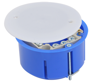 Коробка универсальная, установочная, с металлическими лапками, клеммником 73x45 (160 шт/уп) ПожТехКабель 020-027