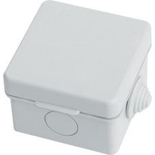 Коробка распаячная, с винтом, белая, 75x75x20 (100 шт/уп) ПожТехКабель 030-001