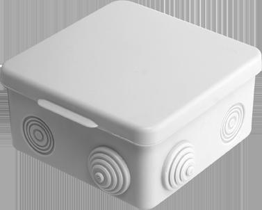 Коробка распаячная, с винтом, 100x100x20 (50 шт/уп) ПожТехКабель 030-006