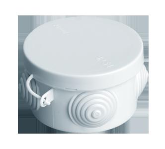 Коробка распаячная, с эластичными мембранными вводами, 65x40 (180 шт/уп) ПожТехКабель 040-038
