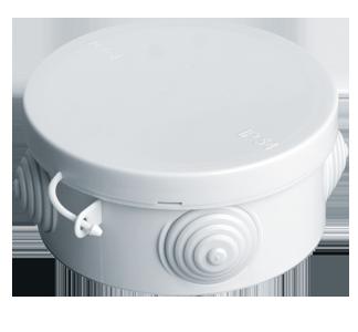 Коробка распаячная, с эластичными мембранными вводами, 85x40 (120 шт/уп) ПожТехКабель 040-039