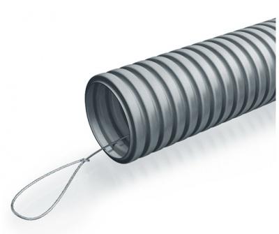 Труба гофр. тяжелая самозатух. ТГТ СЗ  ПВХ 50 мм с зондом (15 м) ПожТехКабель 710-006