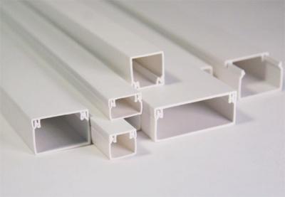 Кабель-канал 40x40, двойной замок, белый (30 м/уп) (ПожТехКабель)