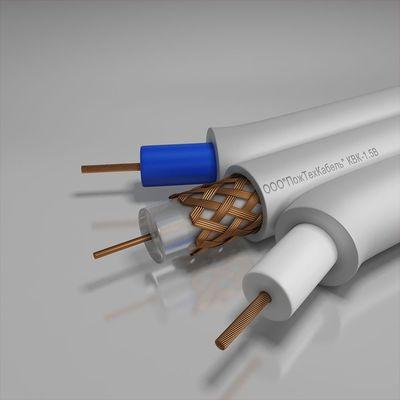 Кабель комбинированный, для систем видеонаблюдения, длина линий не более 100 м КВК-1,5В 2x0.5 ПожТехКабель (100 м)