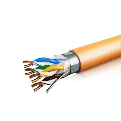 Кабель связи симметричный, для структурированныx сетей, внутренней прокладки PTK-LAN F/UTP cat 5e 4х2х0,51 ZH нг(А)-HF ПожТехКабель (305м)