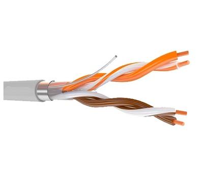 Кабель связи симметричный, для структурированныx сетей, внутренней прокладки PTK-LAN F/UTP Cat 5e PVC 2x2x0.51 (КПВЭ-ВП 2x2x0.51) ПожТехКабель (500 м)