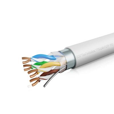 Кабель связи симметричный, для структурированныx сетей, внутренней прокладки PTK-LAN F/UTP Cat 5e PVC 4x2x0.51 (КПВЭ-ВП 4x2x0.51) ПожТехКабель (305 м)