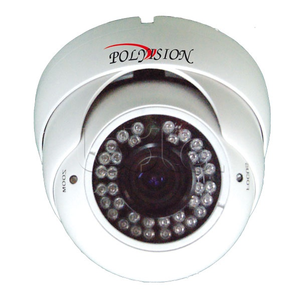 Polyvision PDM-IP1-V12 v.9.1.6, IP-камера видеонаблюдения купольная Polyvision PDM-IP1-V12 v.9.1.6