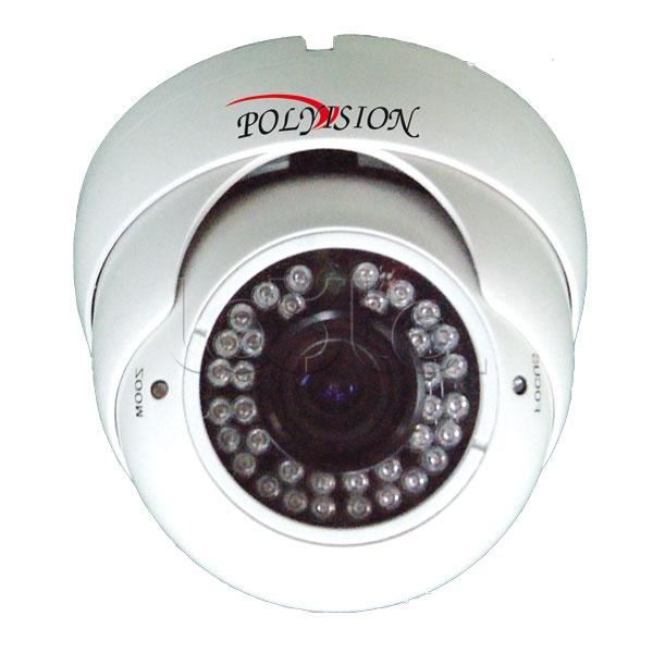 Polyvision PDM-IP1-V12P v.9.1.6, IP-камера видеонаблюдения купольная Polyvision PDM-IP1-V12P v.9.1.6