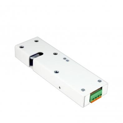 Замок электромеханический с толкателем и датчиком положения двери Promix-SM323.10.1-01 (белый)