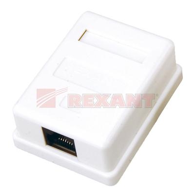 Розетка компьютерная 1xRJ-45 CAT5e (25шт/уп) REXANT 03-0121