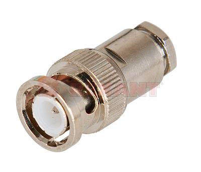Разъем штекер BNC RG-6 пайка (01-006С) (100шт/уп) REXANT 05-3013