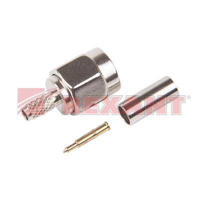 Разъем штекер SMA RG 174 обжим (10шт/уп) REXANT 05-5010