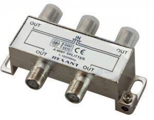 Делитель телевизионный ТВх4 под F разъём 5-1000 МГц (10шт/уп) REXANT 05-6003