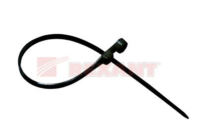 Хомут-стяжка нейлоновый под винт 2.5х100 мм чёрный (100шт/уп) REXANT 07-0105