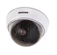 Rexant 45-0210, Муляж внутренней купольной камеры видеонаблюдения белого цвета с мигающим красным светодиодом Rexant 45-0210