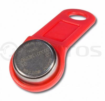 Ключ Touch Memory с пластиковым держателем Tantos DS1990A iButton TS (красный)
